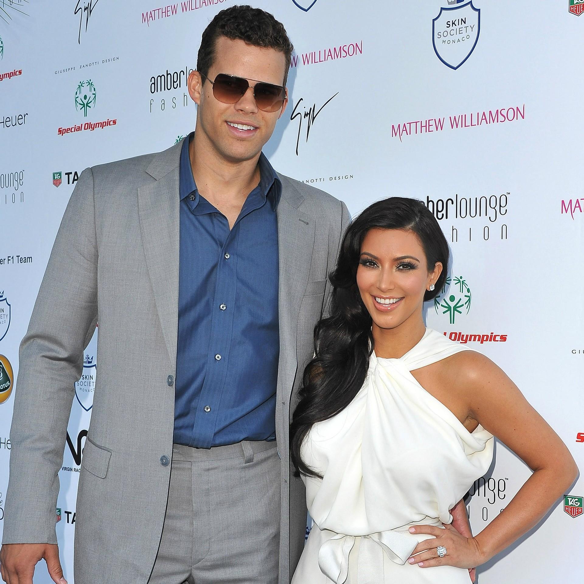 O casamento da socialite Kim Kardashian, de 33 anos, com o jogador de basquete Kris Humphries, de 29, em outubro de 2011 parece ter sido só um espetáculo para a TV. Duas semanas depois de a cerimônia ir ao ar, ela pediu divórcio. (Foto: Getty Images)