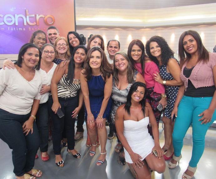 Mais plateia com a Fátima! (Foto: Monique Arruda/Gshow)