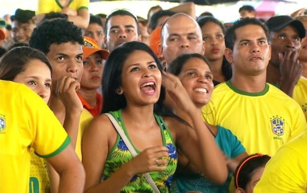 O Bom Dia Amazônia mostrou a comemoração da população depois da partida (Foto: Bom Dia Amazônia)