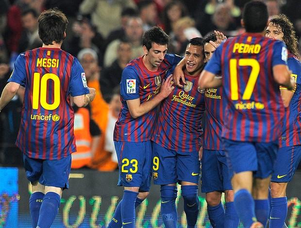 Alexis Sanchez, Barcelona x Getafe (Foto: AFP)