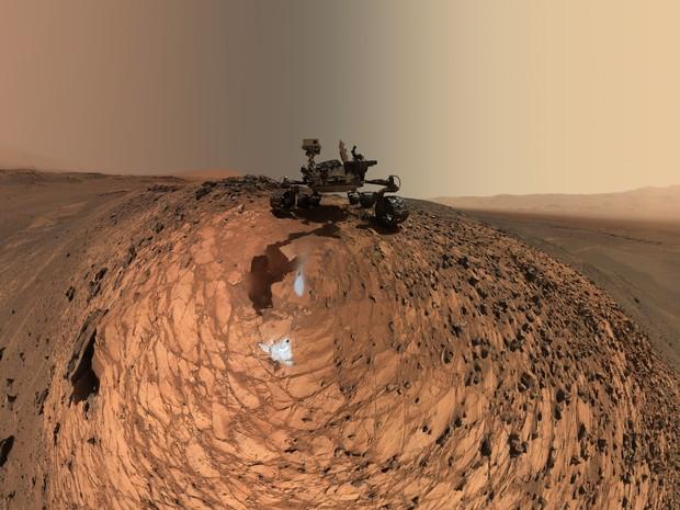 Nasa divulgou nova 'selfie' do robô Curiosity, que está em missão em Marte desde 2012 (Foto: NASA/JPL-Caltech/MSSS)