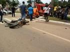 Criança de 4 meses e três adultos se ferem em colisão de moto em RO