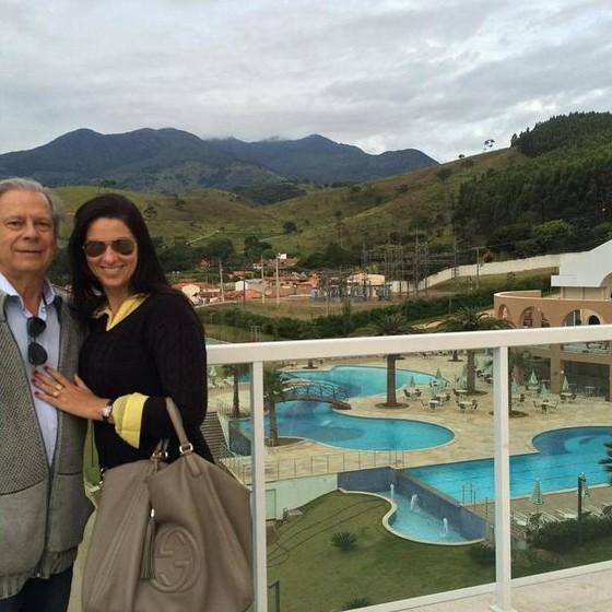 José Dirceu e sua esposa Simone (Foto: Reprodução)