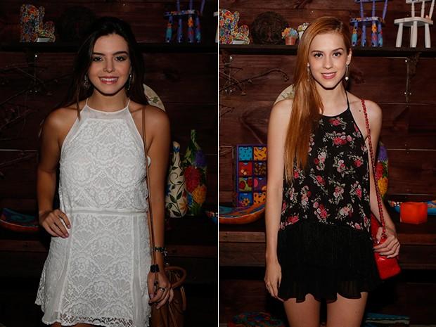 Qual a mais bela? Giovanna Lancellotti e Sophia Abrahão (Foto: Artur Meninea/ Gshow)