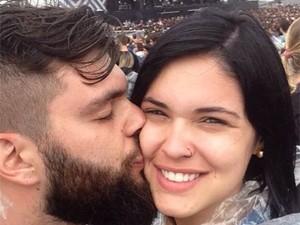 Lucas e Layana no Lollapalooza (Foto: Arquivo Pessoal)