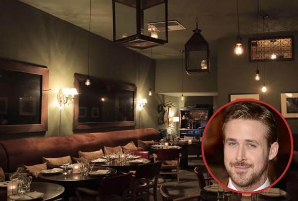 O ator Ryan Gosling é dono do Tagine, em Beverly Hills. Aberto desde 2006 é especializado em comida marroquina (Foto: Getty Images / Divulgação)
