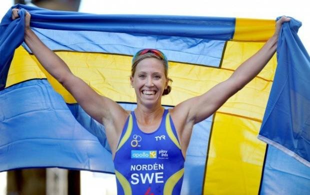 Lisa Norden, triatleta sueca, campeã mundial na Nova Zelândia (Foto: Delly Carr/ITU)