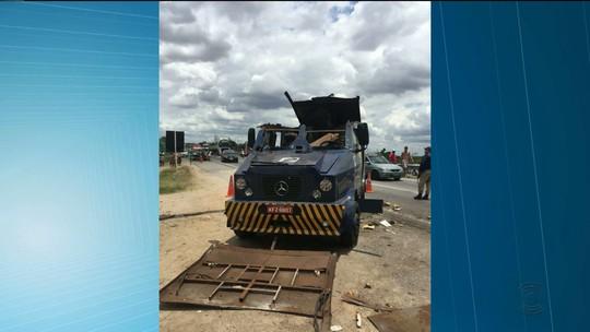 Grupo tenta assaltar três carros-fortes em Caldas Brandão, no Agreste da PB