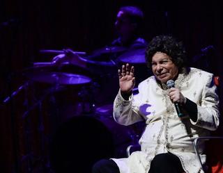 Cauby Peixoto em suas últimas apresentações em shows (Foto: AgNews)