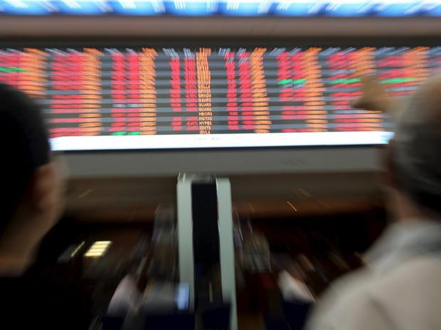 Operações observam cotações da bolsa brasileira nesta quinta-feira (7) (Foto: REUTERS/Paulo Whitaker)