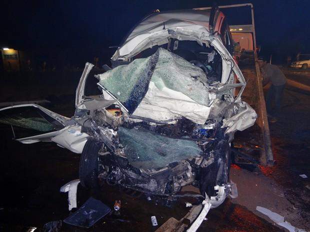 Pessoas da mesma família morrem em acidente em Campos Novos, no Oeste (Foto: PRF/Divulgação)