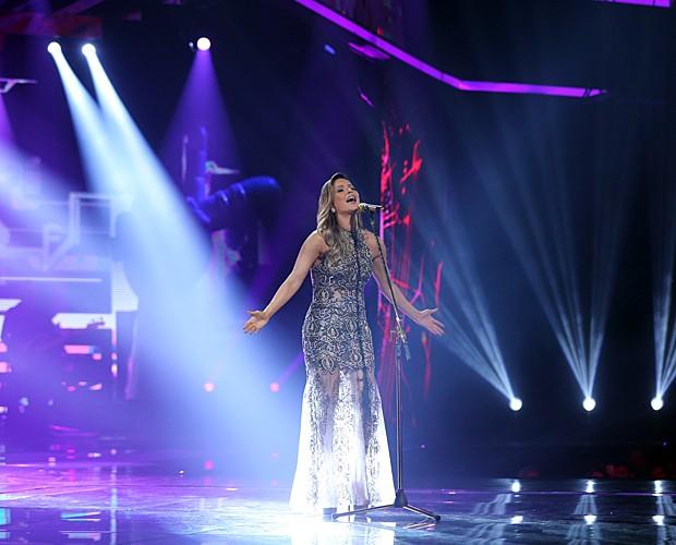 Como uma deusa! Claudinha arrebentou cantando nas duas líguas: inglês e português (Foto: Isabella Pinheiro/Gshow)
