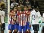 Godín marca de cabeça e dá vitória ao Atlético de Madrid contra o Tottenham