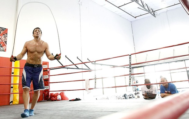 Chael Sonnen no treino do UFC (Foto: Getty Images)