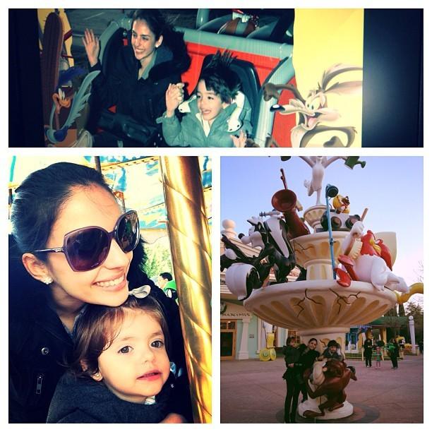 Carol Celico com filhos no parque (Foto: Instagram / Reprodução)
