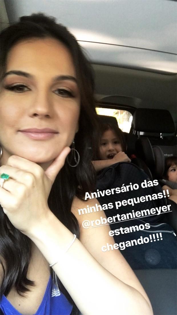 Kyra Gracie com as filhas, Ayra e Kyara (Foto: Reprodução/Instagram)