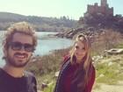 Felipe Andreoli posa com Rafa Brites em férias e faz declaração apaixonada