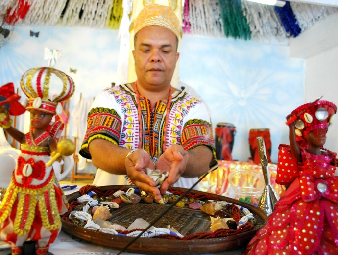 Pai Jefferson previsão de 2014 para o Amazonas (Foto: Katiúscia Monteiro)