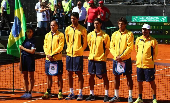 Brasil na Copa Davis em Buenos Aires (Foto: Cristiano Andujar / CBT)