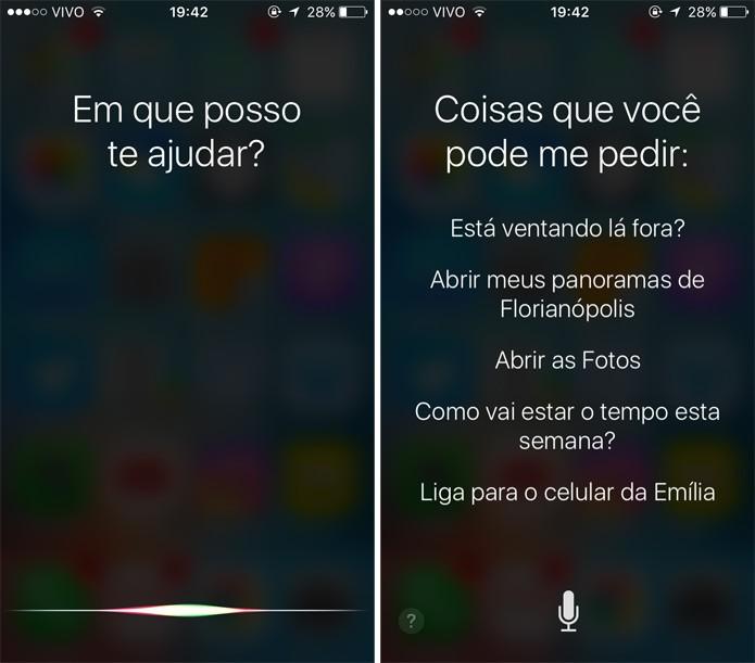 Agora, a Siri já está ativada (Foto: Reprodução)