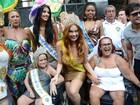 Ellen Rocche é coroada rainha de bloco de carnaval em São Paulo