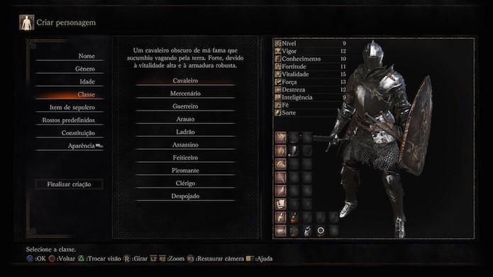 Dark Souls 3: cavaleiro (Foto: Reprodução/Victor Teixeira)