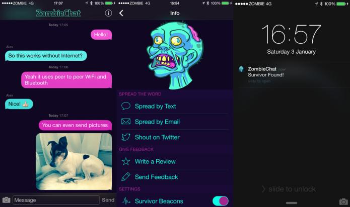 ZombieChat fornece comunicação segura, mesmo em tempos e locais difíceis (Foto: Divulgação/AppStore)