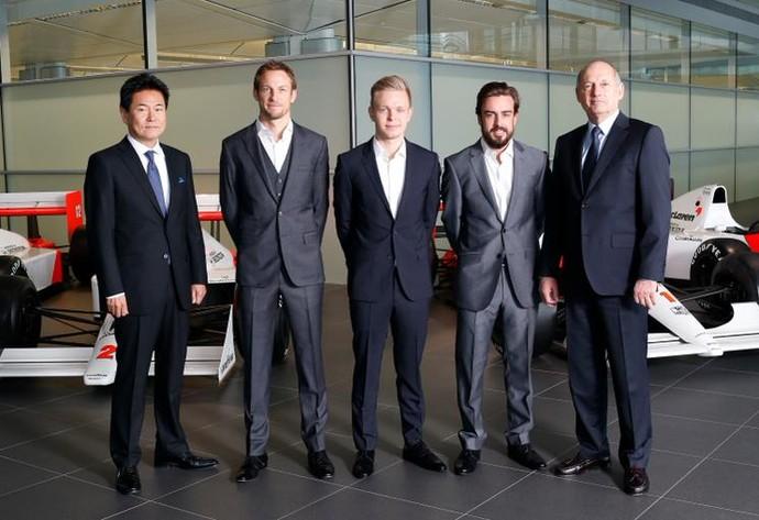 Jenson Button e Fernando Alonso serão os pilotos da McLaren em 2015 (Foto: Divulgação)