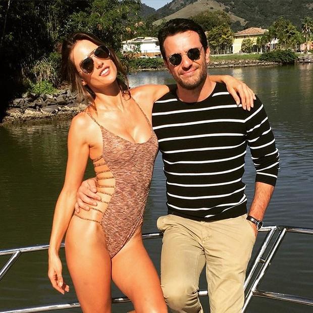 Alessandra Ambrósio e Rodrigo Lombardi (Foto: Instagram / Reprodução)