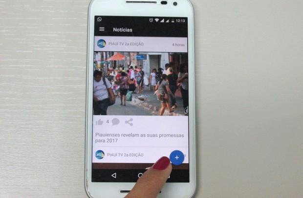 App permite que o telespectador acompanhe notícias e/ou enviar sugestões para os telejornais (Foto: Katylenin França/TV Clube)