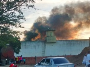 Rebelião foi registrada na tarde deste sábado (23) na Penitenciária de Caruaru (Foto: Divulgação/PM)