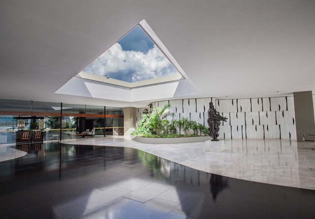 Área interna do Palácio do Jaburu, residência do vice-presidente da República em Brasília (Foto: Reprodução/Flickr)