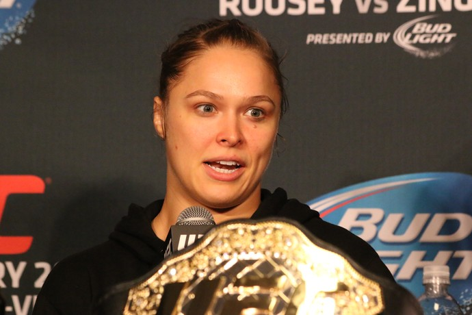 Ronda Rousey UFC 184 (Foto: Evelyn Rodrigues)