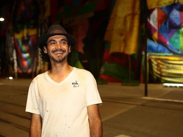 Equipe do grafiteiro Eduardo Kobra fez o mural em 70 dias (Foto: Divulgação/Estúdio Retrato)