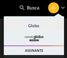 Menu Site - Canais Globo (Foto: Canais Globo)
