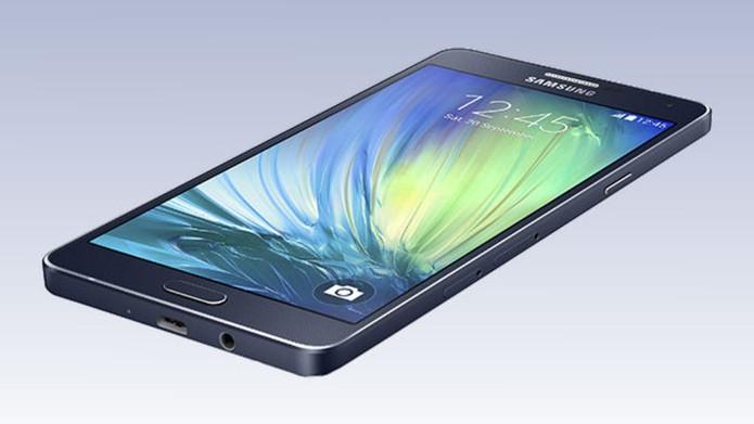 Galaxy A7 possui tela Full HD e corpo metálico (Foto: Divulgação/Samsung) (Foto: Galaxy A7 possui tela Full HD e corpo metálico (Foto: Divulgação/Samsung))
