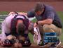 Essa doeu! Brasileiro lesiona testículos ao levar bolada em partida de beisebol
