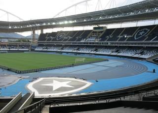Engenhão Estádio Nilton Santos Botafogo escudo (Foto: Daniel Mundim)