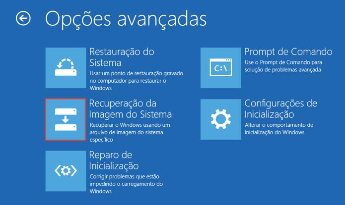 Clique para reinstalar o Windows usando a partição de recuperação (Foto: Reprodução/Paulo Alves)