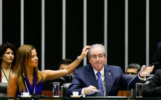 O presidente da Câmara Eduardo Cunha e Cláudia Cruz (Foto: Pedro Ladeira/Folhapress)