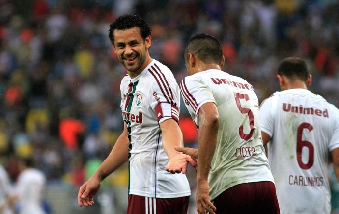 Fred e Cicero gol Fluminense (Foto: Matheus Andrade / Photocâmera)