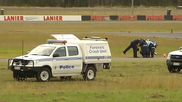 Acidente mata motociclista amador em Queensland, Austrália (Foto: Reprodução de TV)