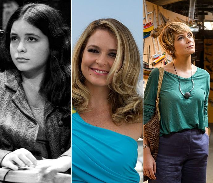 Cláudia Abreu em 'Hipertensão', 'Geração Brasil' e 'A Lei do Amor' (Foto: Memória Globo/Gshow)