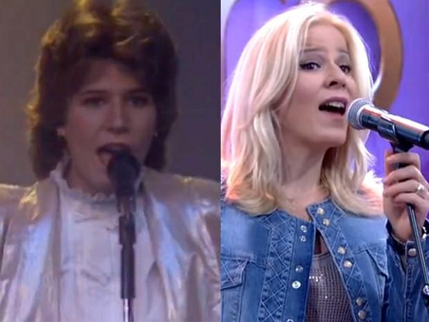 Paula Toller não se livrou do lado negro dos anos 80, mas só o cabelo mudou também (Foto: Gshow)