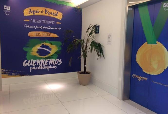 Paralimpíada prédio Brasil (Foto: Divulgação CPB)