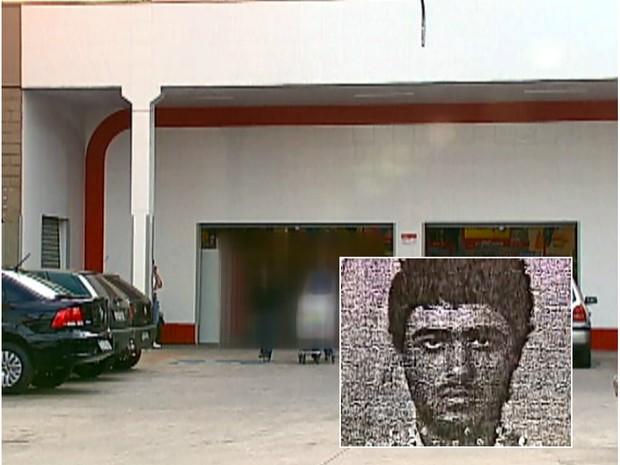 Pedreiro foi agredido por seguranças do supermercado em São Carlos (Foto: Reprodução/EPTV)