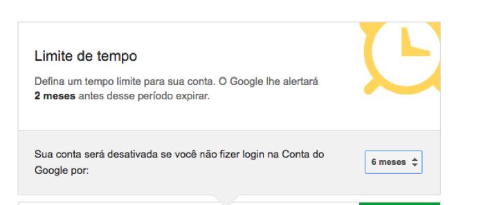 Data limite para que o Google considere a conta inativa (Foto: Reprodução/André Sugai)