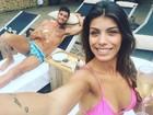 Franciele Almeida e Diego Grossi aproveitam lua de mel em Ilhabela