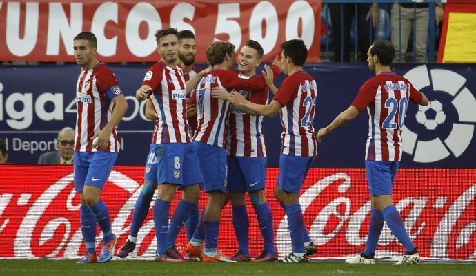 Atlético de Madrid x Málaga Gameiro (Foto: Víctor Lerena/EFE)