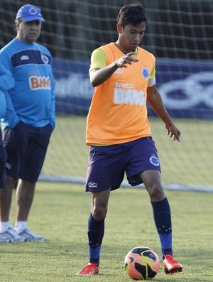 Lucca, Cruzeiro, treino, Toca da Raposa II, Marcelo Oliveira (Foto: Washington Alves / Vipcomm)